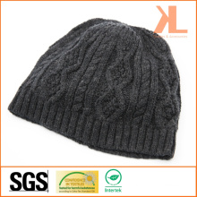 Acrylic & Wool Cable Knitted Hat