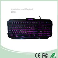 2016 Le plus récent Computer Gaming Keyboard LED Backlight Keyboards (KB-1901EL)