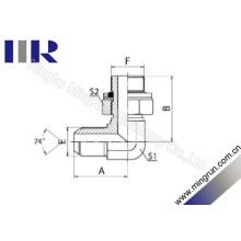Adaptateur de tube ajustable mâle métrique évasé / métrique mâle (1QH9-OG)