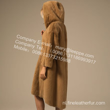 Winter Reversible Women Kopenhagen Mink Overcoat