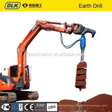 Excavator Auger Drilling