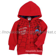 kids clothing new  boy spider man printing winter coat hoodie jacket