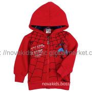 kids clothing new  boy spider man printing winter coat hoodie jacket