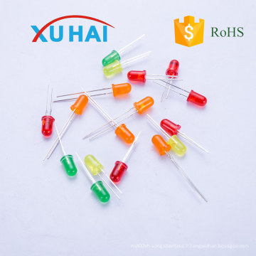 High Brightness Round 3mm 5mm diode LED / LED haute qualité