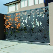 Laser Cut Fence Screens dan Gate