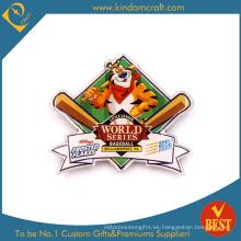 Insignia impresa metal del Pin del recuerdo del béisbol de la serie mundial en alta calidad