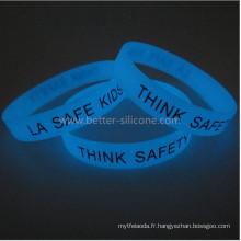 Bracelet à la mode à Glow in The Dark Silicone