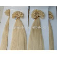 extension de cheveux d'ongle kératine humaine remy vierge de haute qualité