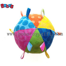 Sicherheit Plüsch Baby Ball Spielzeug gefüllte Säugling Ball Spielzeug mit bunten Ribbonbosw1056