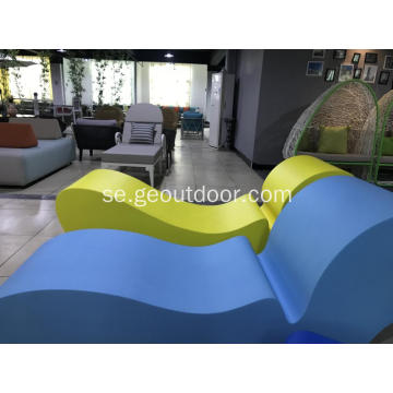 European Style Outdoor Lounge PU Skum utan ram