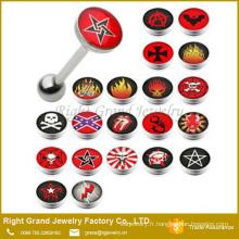 Anneaux de Logo Epoxy inox Custom langue de haute qualité