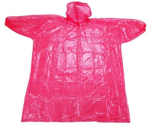 red Ladies Disposable Raincoat