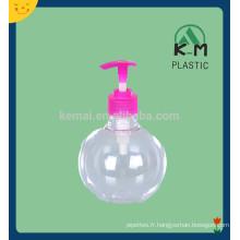 Bouteille en plastique de pompe à lotion PET avec distributeur de pompe à lotion couleur blanche
