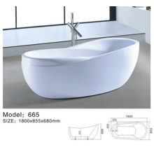 freestanding bathtub acrylic/ white bath tub/ clear acrylic tub