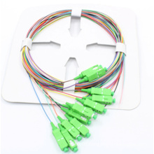 12 Color Coded Fiber Opical Pigtail with Sc/APC Connector