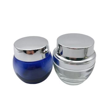 hotsale 20g 30g electroplated silver herbal cream facial cream glass jar