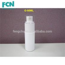 30ml 50ml 70ml PETG Branco personalizado de cosméticos de luxo embalagem set loção garrafa