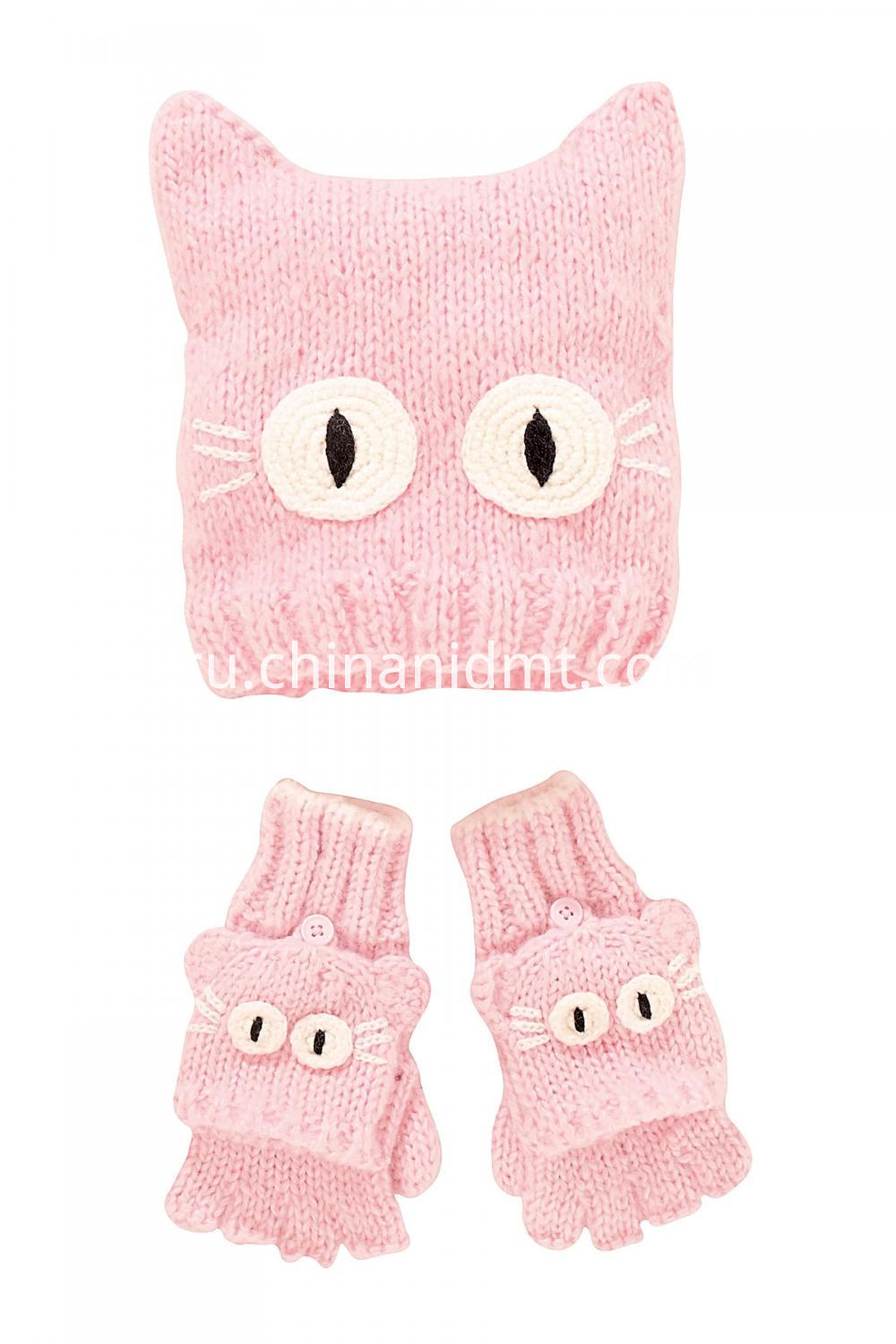 Cat Beanie Two Piece Set