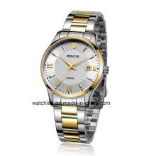 Miroir saphir en acier inoxydable Quartz Couple montre-bracelet