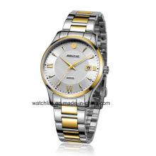 Sapphire Mirror Stainless Steel Quartz Couple Wrist Watch