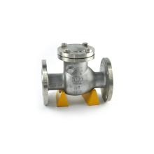 PTFE junta brida de conexión de hierro dúctil vertical válvula de retención ss316