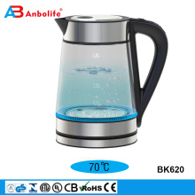 wholesale 1200/2200W 1.8L LED lights change color as water heats up folding electric ceramic glass stainless steel water kettle