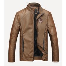 Men′s Slim Jacket Men Washed PU Leather Motorcycle Jacket Casual Jacket