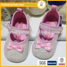 Верхнее качество новорожденного ребенка мягкие подлинные крючки детские девочки обувь для alibaba