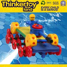 DIY Mini Robot de juguete educativo de plástico niños juguetes de bloque