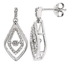 Танцевальные бриллиантовые ювелирные изделия 925 Серебряная мотаться серьгой