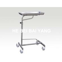 (B-42) Chariot d'hôpital en acier inoxydable pour instrument d'opération