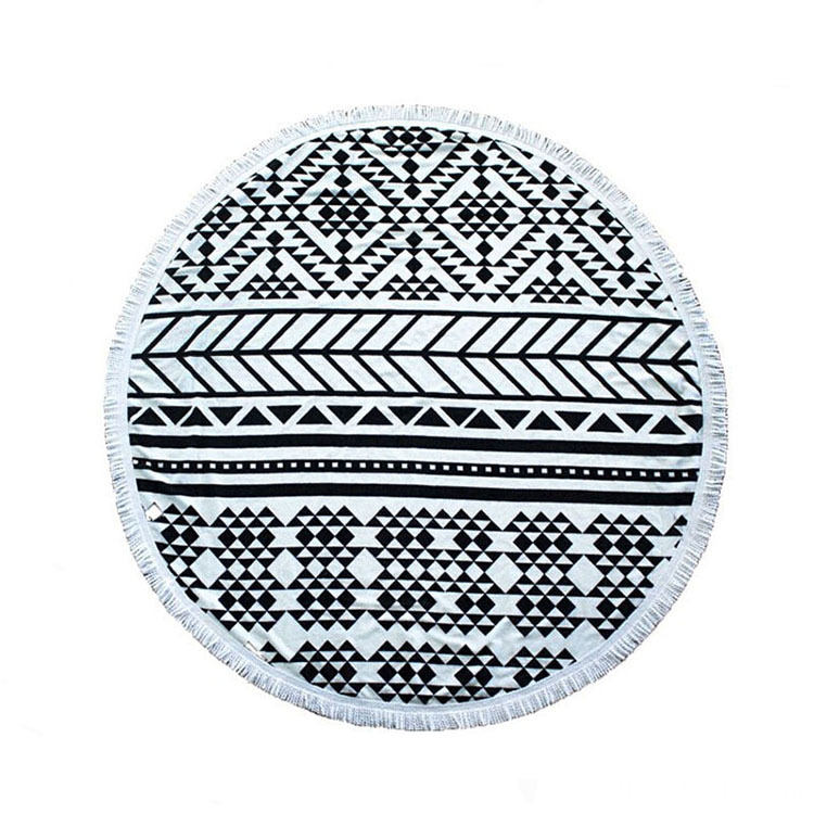 Diameter Geometric Pattern Shape Round Toallas de playa