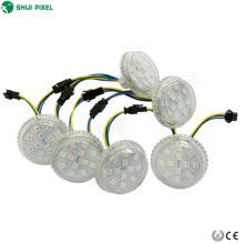 12leds amusement led module lumière programmable en couleur contrôlable 50mm rgb led pixel lumière