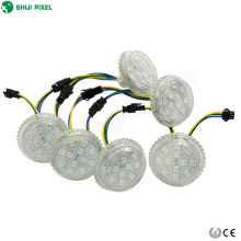 12leds amusement led module light programmable full color controllable 50mm rgb led pixel light