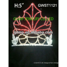 Reizend saisonale Festzug benutzerdefinierte Rhinestone Krone Tiara -GWST1121