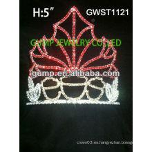 Tiara de la corona del rhinestone de encargo encantadora del desfile de lujo - GWST1121