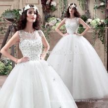 Vestido de boda blanco y rojo vestido de bola hecho en vestido de bola del vestido de boda de China
