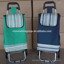 600D Polyester Folding Shopping Trolley/Mini Wheeled Market Trolley Bag/Folding Shopping Trolley Bag