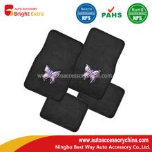 Stickerei-Schmetterlings-Qualitäts-Teppich-Fahrzeug-Fußmatten
