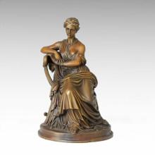 Figura clásica estatua Senhora Escultura de bronce TPE-136