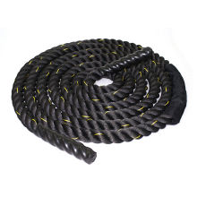 "1.5"" 50Ft Poly Dacron Battle Rope Workout Strength Training Undulation Black"