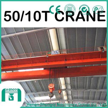 2016 Qd Model Overhead Crane with Hook Capacity 50/10 Ton