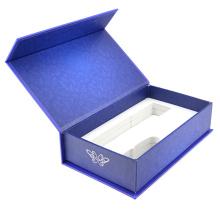 Caja de libro rígida de embalaje de USB rígido con imán
