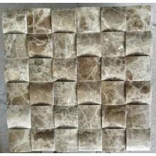 Mosaico de mosaico 3D mosaico de mármol de piedra (HSM215)