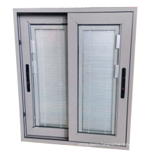 Special design vertical louver window with manual control