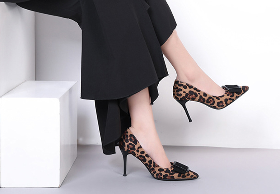 Yellow Feline Spots Pumps