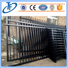 Hot sale 2.4m*2.0m black garrison fence