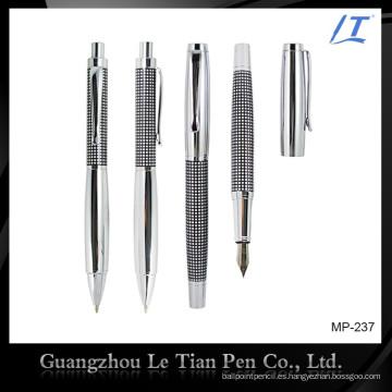 Bolígrafo clásico de grabado metalizado y bolígrafo rotulador