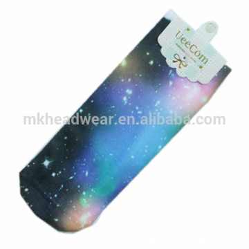 Fashionable Starry Sky Printing Cotton Knitted Socks for Wholesale