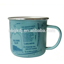 enamel blue shaped mugs,custom shape mug